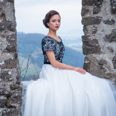 bridal shoot kinnoull hill perth